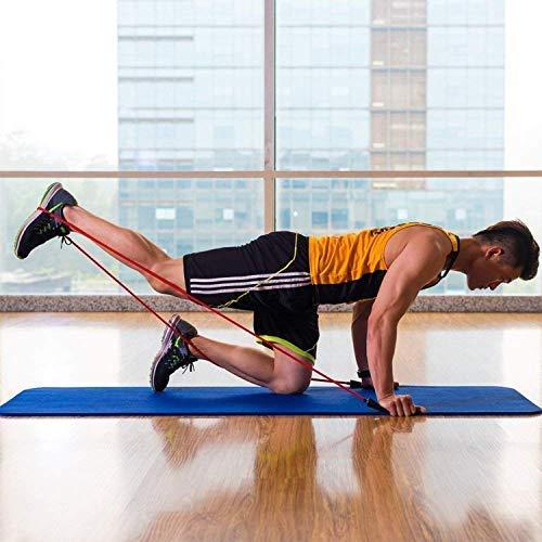 Expander Set 5 Resistance Gymnastikband kit f/ür Ganz-K/örper Workout Muskelaufbau Latex Fitnessb/änder kommt mit Griffen Fu/ßschlaufen Aufbewahrungsbeutel ROMIX Widerstandsb/änder Krafttraining Bands