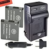 BM Premium 2 Pack of NB-11L, NB-11LH Batteries and Charger Kit for Canon PowerShot Elph 110, Elph 130, Elph 135 IS, Elph 140 IS, Elph 150 IS, Elph 160, Elph 170 IS, Elph 180, Elph 190 IS, Elph 320 HS, Elph 340 HS, Elph 350 HS, Elph 360 HS, A2300 IS, A2400 IS, A2600 IS, A3400 IS, A4000 IS, SX400 IS, SX410 IS, SX420 IS Digital Camera
