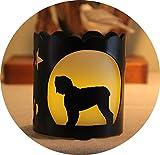 Black Russian Dog Breed Jar Candle Holder