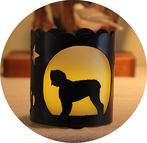 Black Russian Dog Breed Jar Candle Holder