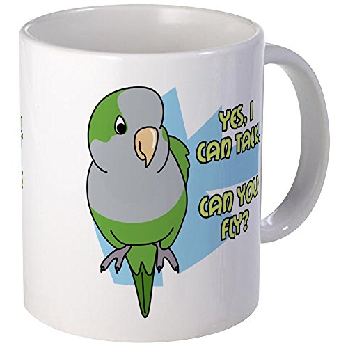 Mug Large Parrot - CafePress Can You Fly Quaker Parrot Mug Unique Coffee Mug, Coffee Cup