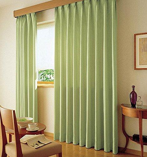 アスワン 無地調を豊かな表情に仕上げたカーテン フラットカーテン1.3倍ヒダ E6157 幅:300cm ×丈:300cm (2枚組)オーダーカーテン 300  B078C7STX5