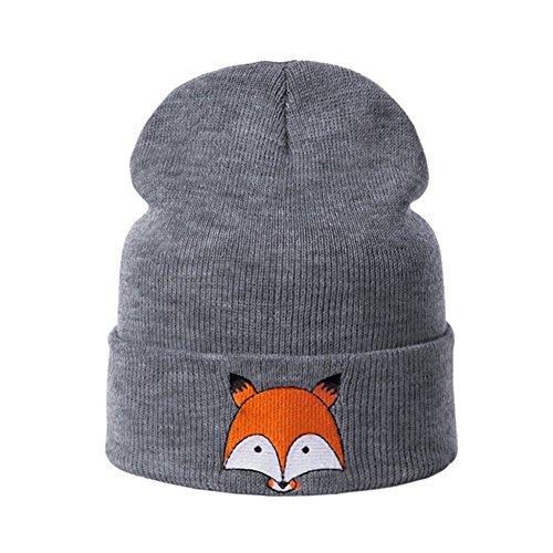 Baby Gap Hats (Fashion New Sweet Cute knit Fox Beanie Winter Warm Baby Kids Boys Girls Soft Knitting Hats (Dark Grey))