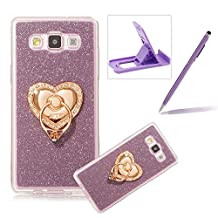 Cover for Samsung Galaxy A5 2015,Rubber Case for Samsung Galaxy A5 2015,Herzzer Super Slim [Gradient Color Changing] Dust Resistant Soft Flexible TPU Bling Glitter Protective Case for Samsung Galaxy A5 2015