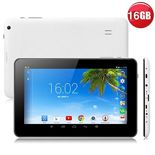 9'' inch Android Tablet PC,1GB RAM 16GB Storage Phablet Tablet Quad Core Unlocked Tablets, Dual Camera Sim Card Slots, WiFi, GPS, Blue-Tooth 4.0,800 480 HD IPS Screen Display, Google Play by XINSC (Image #2)