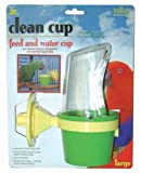 JW Pet Company Clean Cup Feeder and Water Cup Bird Accessory, Large