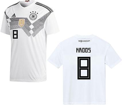 Adidas Maillot de l'équipe de foot d'Allemagne à domicile Pour hommes Coupe du monde 2018 Kroos 8