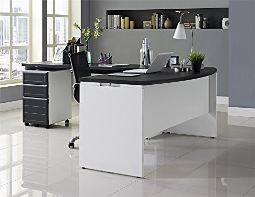 Altra Furniture Pursuit Small Office Set: Executive Desk, Credenza, and Mobile File Bundle, Credenza (Desk Executive Top Set)