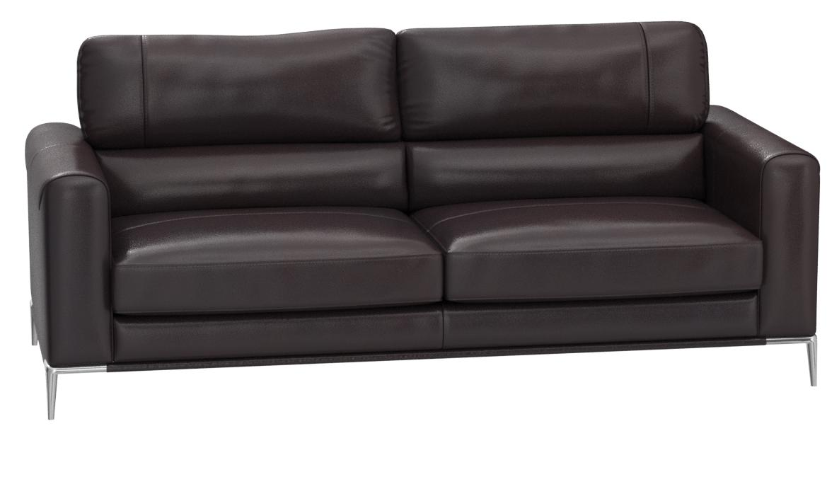 American Eagle Furniture Rodeo Collection Modern Italian Leather 3 Person Living Room Leather Sofa