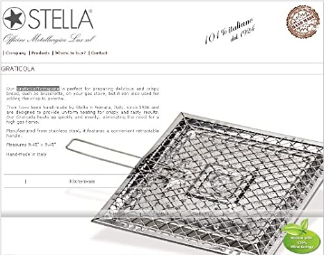 Amazon.com: Graticola/tostapane parrilla para gas-stoves ...