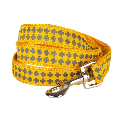 "Blueberry Pet Durable Gold Cross Print Dog Leash 5 ft x 3/8"" for Puppy, X-Small, Basic Nylon Leashes for Dogs"