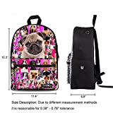 Freewander Personalized Backpack Canvas Animal Printing Back to School Book Bag