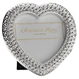 Addison Ross, Diamante Bling Photo Frame, 2.5x2.5, Heart, 2.5  x 2.5 Inches