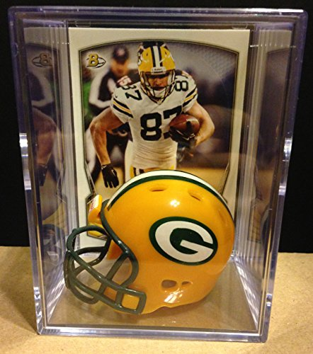 Green Bay Packers NFL Helmet Shadowbox w/ Jordy Nelson card
