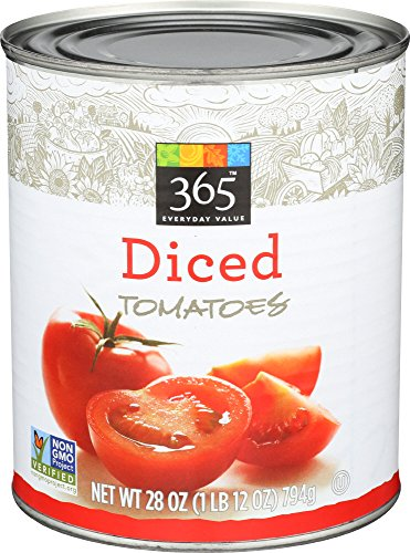 Whole Foods Tomatoes - 365 Everyday Value, Diced Tomatoes, 28 oz