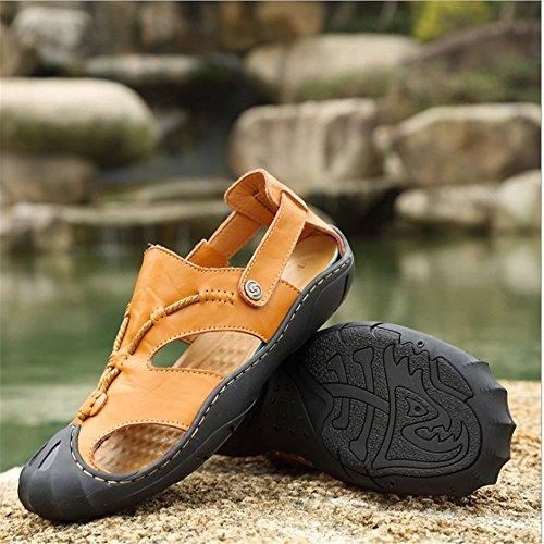 Wagsiyi 5 Aperta Traspirante CM Uomo spiaggia Rosso 40 Pelle EU 27 Scarpe Antiscivolo pantofole Dimensione Da 23 Sport Sandali Sandali Marrone Colore da 5 All'aria Casual In prxpqwaP