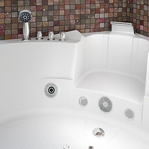 Whirlpool Pool Badewanne Eckwanne Wanne A1505H-ALL 140x140cm Reinigungsfunktion