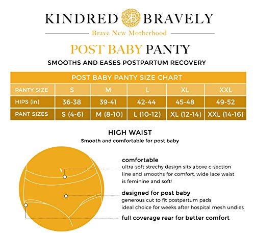Kindred Bravely High Waist Postpartum Underwear & C-Section Recovery Panties (Medium, Assorted, 5 Pack) by Kindred Bravely (Image #7)