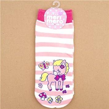 calcetines monos de rallas rosas y blancas con un pony rosa: Amazon.es: Juguetes y juegos
