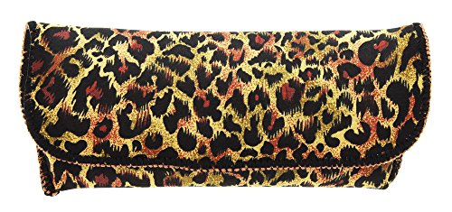 Women's Fashion Eyewear Case For Small To Large Glasses In Stylish Leopard - Leopard Glasses Print