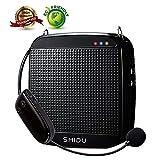 Wireless Voice Amplifier,SHIDU Wireless Voice Amplifier 2.4G 18W Portable Rechargeable PA System Loudspeaker