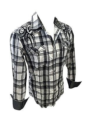 Men's House of Lords Cross Plaid Woven Button Down Dress Shirt White Black Plaid 3020