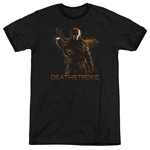 Arrow Deathstroke Unisex Adult Ringer T Shirt For Men and Women