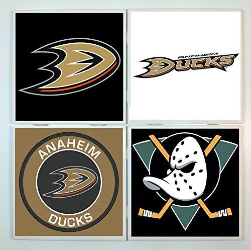 Anaheim Coasters - set of 4 tile coasters - hockey ()