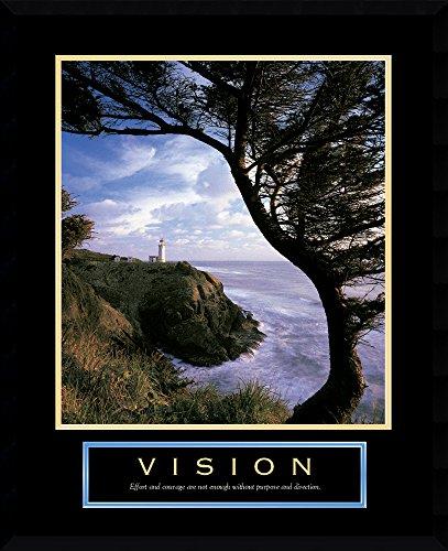 Framed Art Print, Vision: Lighthouse': Outer Size 23 x 29