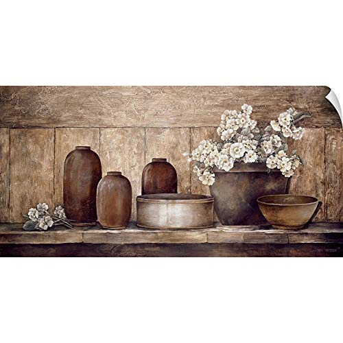 Sideboard 48 (Linda Thompson Wall Peel Wall Art Print Entitled Primrose on a Sideboard 48