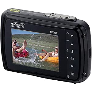 Coleman Xtreme C20WP Shock & Waterproof HD Digital Camera (Black) with 32GB Card + Batteries & Charger + Case + Tripod + Floating Strap + Kit