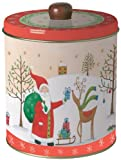Ideal Home Range Round Cookie Tin, Santa on Tour