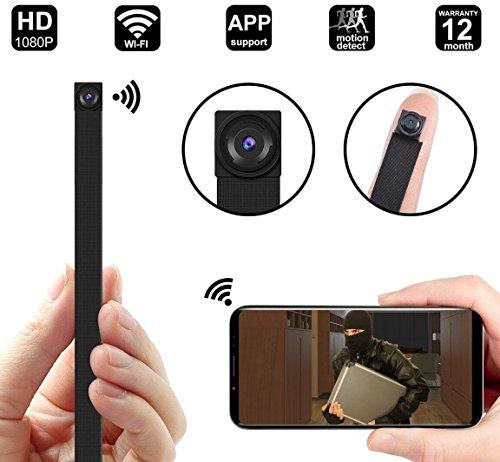 CYGG® Cámara Espía Inalámbrica 1080P WiFi Cámara Espía Portátil Grabadora De Video con Detección De Movimiento,...