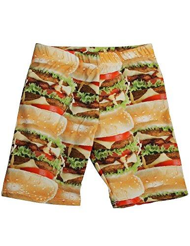 Zara Terez - Big Girls' Cheeseburger Bike Shorts, Orange 34058-14