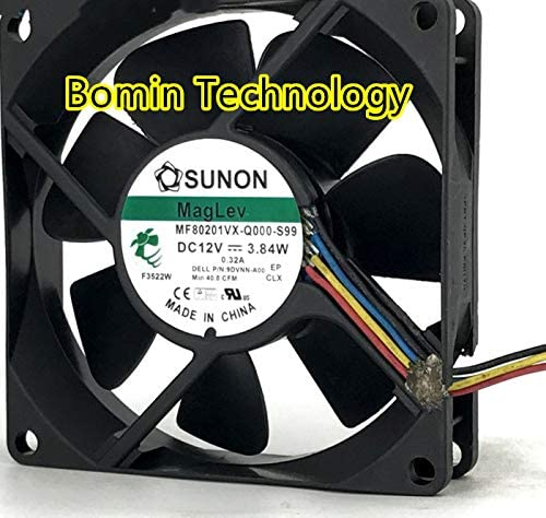 Bomin Technology for SUNON MF80201VX-Q000-S99 12V 3.84W 4-Wire 8CM 8025 Cooling Fan
