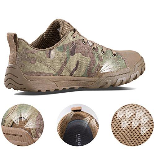 Combat Soldat Low Moyenne Homme Bottes Basse Camo Gratuit Bottes et Bottes Militaire Tactique Léger pour de Travail FREE SOLDIER Boots Respirant Camo Bottes UIE1Fqx6ww