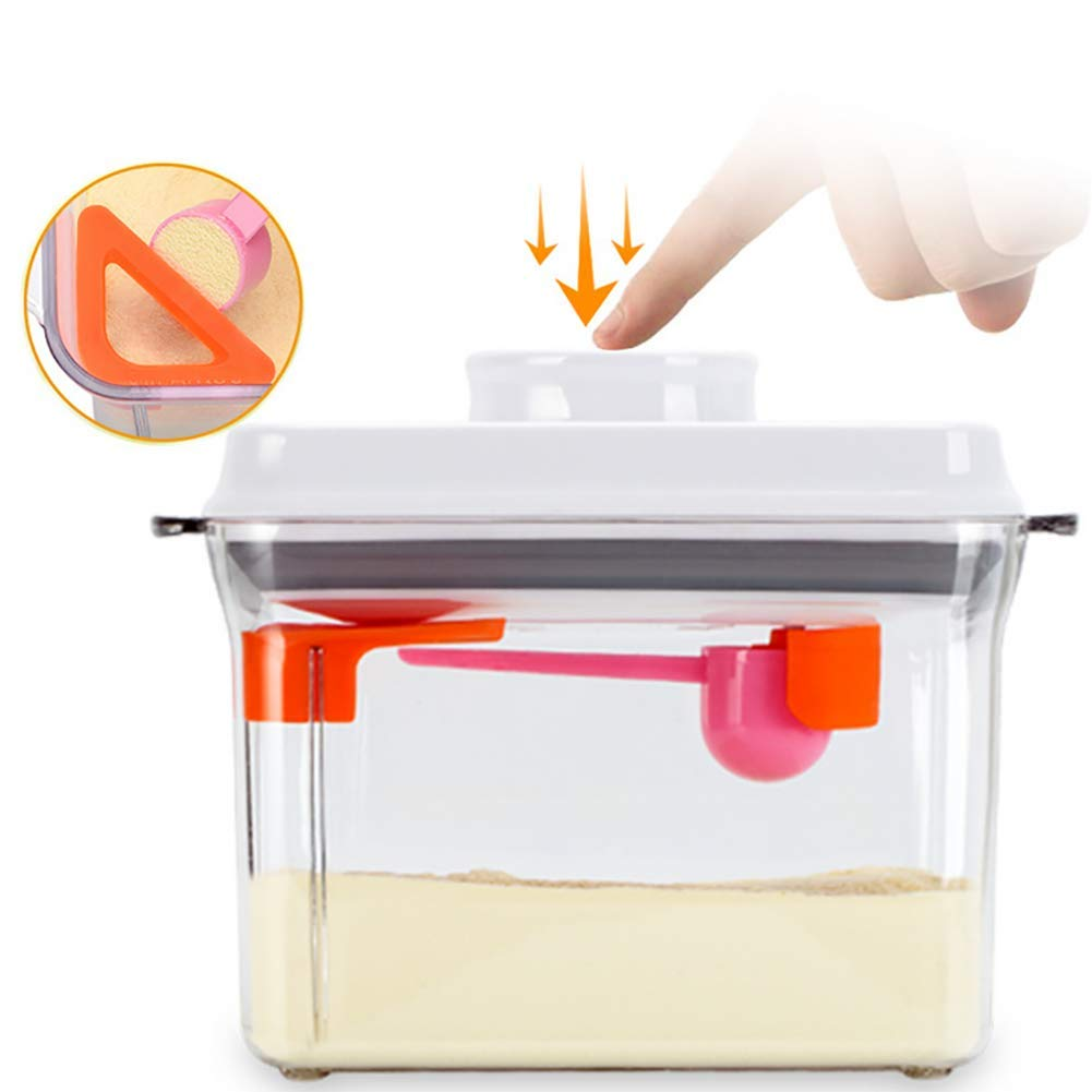 CASILE Rectangle Tight Food Storage Containers-Storage Containers with Lids BPA-Free for Milk Powder & Snacks,1000ML