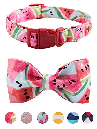 Unique style paws Bowtie Dog Collar and Cat Collar Handemade Detachable Bowtie Dog Collar Plastic Buckles Durable Adjustable Dog Collars for Small Medium Large Dogs