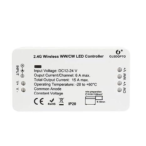 Dispositivo de control para la temperatura de color o CCT WW/CW blanca cálida +