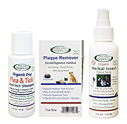 Mad About Organics All Natural Dog Flea & Tick Herbal Insect Spray Sampler Set
