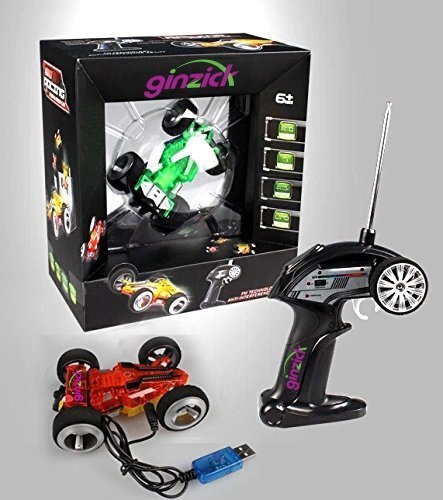 Ginzick 5ch Remote Control 2-sided Extreme High Fastest Mini Rc Speed Tumbling Action Stunt Race Car with Lights (Colors Vary)