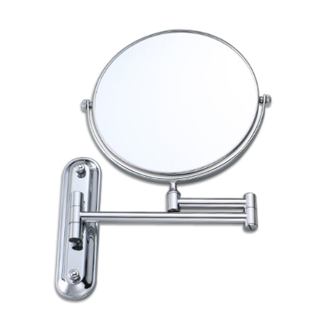 Siker Beauty Mirror Full Copper Wall-Mounted Vanity Mirror Foldable Rotating Bathroom Three Times Magnified Make-up Mirror Eight inches 8801