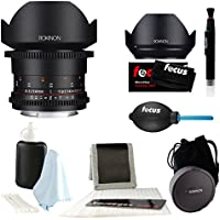 Rokinon Cine DS 14mm T3.1 Cine Lens for Canon EF + Accessory Bundle
