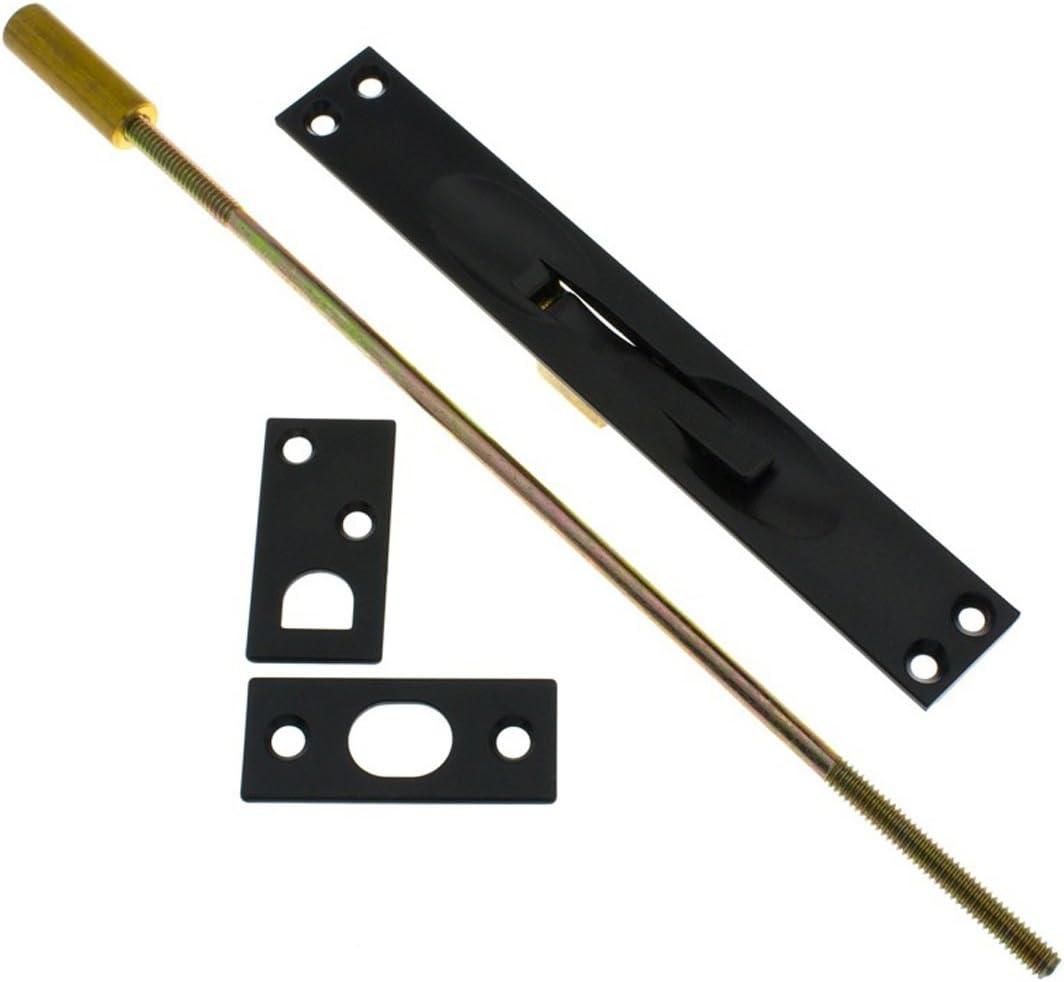Inch Antique Brass IDHBA 11020-005 Professional Grade Quality Solid Extension Flush Bolt UL Standard 12 Rod