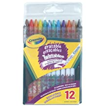 Crayola 12 Erasable Twistables Coloured Pencils