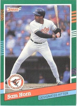 Amazoncom 1991 Donruss Baseball Card 733 Sam Horn Collectibles