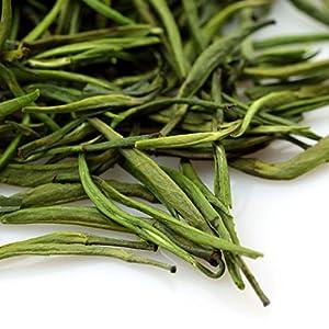 GOARTEA 100g (3.5 Oz) Supreme Organic Handmade Zhu Ye Qing Spring Loose Bamboo Leaf Spring Chinese GREEN TEA