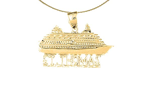 14K Yellow Gold-plated 925 Silver St Thomas Pendant with 18 Necklace Thomas Necklace Jewels Obsession St