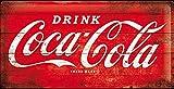 Coca Cola Red Logo large embossed steel sign (na 5025)