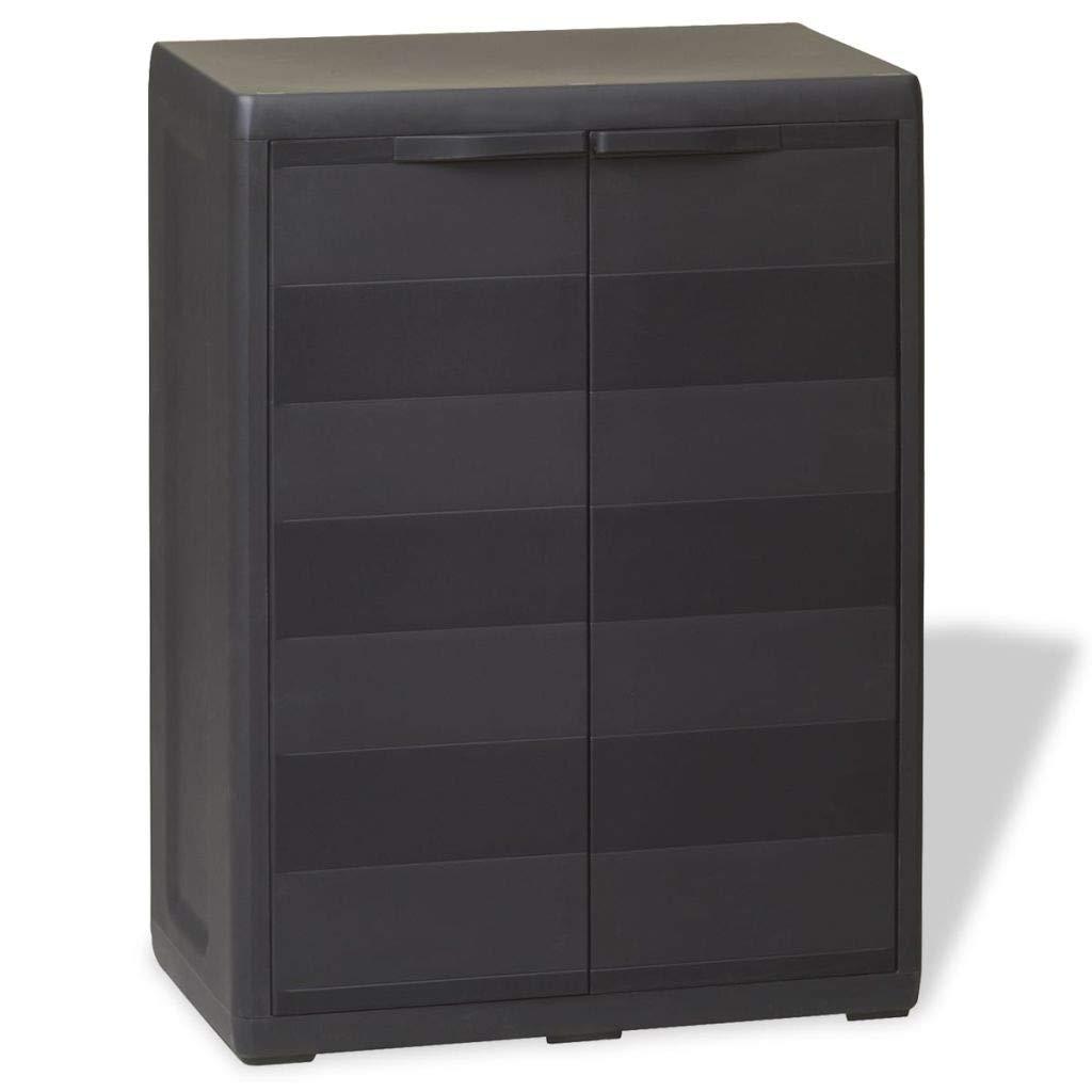 Jskjlkl Garden Storage Cabinet Outdooer Floor Cabinet for Homes Gardens Office Black (Size : 1 Shelf)
